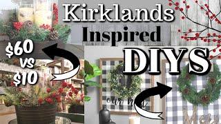 DIY Kirklands Inspired Decor | Dollar Tree Farmhouse Christmas DIYS | Krafts by Katelyn