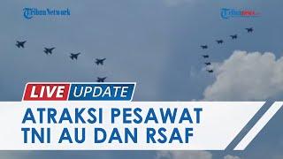Atraksi Pesawat Tempur F-16 TNI AU & F-16 RSAF di Batam, Warga Antusiasme Tonton Formasi Panah