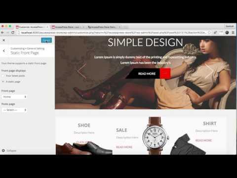 Best WooCommerce WordPress theme AccessPress Store - How to Set HomePage | WordPress Tutorial