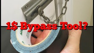 Door Security Chain Bypass for 1?