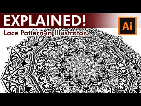 Lace Pattern Tutorial – How to draw a Lace Pattern in Adobe Illustrator