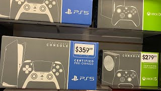 GAMESTOP NOW HAS PS5 AND XBOX SERIES X CONSOLES SHOWING UP ON SHELVES? USED CONSOLES IN STORES?!