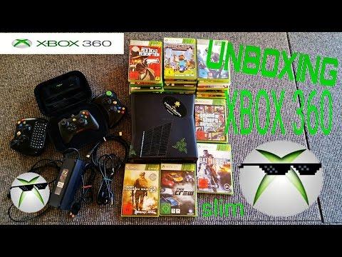 Xbox 360 Unboxing mit jeder Menge Zubehör - (Deutsch/German)
