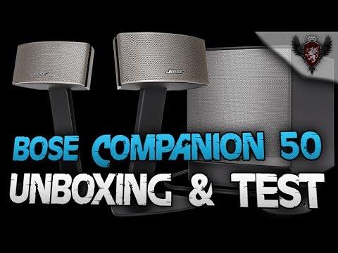 Bose Companion 50 Test mit Unboxing Deutsch - Ein super Anlage für den PC