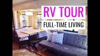 FULLTIME FAMILY RV TOUR BUNKHOUSE: HOW WE FIT & LIVE IN OUR RV FULLTIME WITH 4 KIDS!