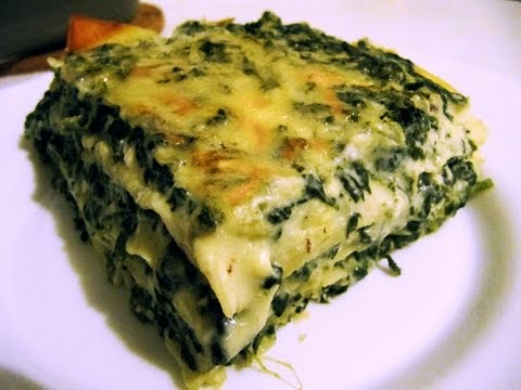 How to make Spinach Lasagne: easy recipe