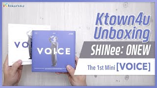 Gambar cover [Ktown4u Unboxing] SHINee: ONEW - 1st Mini [VOICE] 샤이니 온유 언박싱 シャイニー