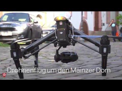 Drohnenflug um den Mainzer Dom