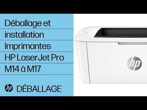 Déballer et installer les imprimantes HP LaserJet Pro M14 à M17