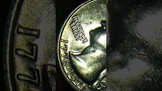 1776-1976 BICENTENNIAL US QUARTER NO MINT MARK RIM MINT ERROR OBVERSE