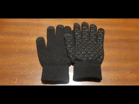 Banggood YOINS Winter Knit Gloves for Men Women Touch Screen Anti-Slip Finger Gloves