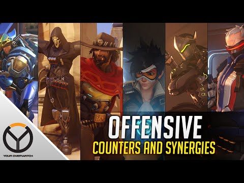Overwatch ALL Offensive Heroes Counters & Synergies Guide: Genji McCree Pharah Reaper Soldier Tracer