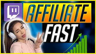 How To Become A Twitch Affiliate Fast - Make money STREAMING
