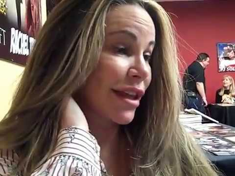 Tawny Kitaen on Tom Hanks reading Time Mag, at the 2018 NJ Horror Con