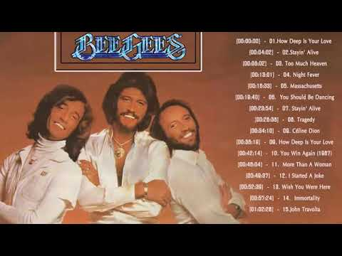 GRANDES EXITOS DE LOS BEE GEES.  bee gees greatest hits.  full album best songs of bee gees.