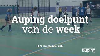 Auping Doelpunt van de Week: 14 en 15 december 2019