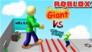 GIANT BALDI VS TINY BALDI?! | The Weird Side of Roblox: Grow Obby