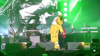 Capleton blazing at Bob Marley 70th Birthday concert