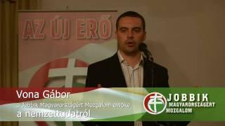 preview picture of video 'Vona Gábor, a JOBBIK elnöke a nemzettudatról - Balatonalmádi, 2009.05.24.'
