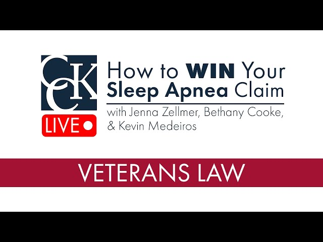 How to WIN Your Sleep Apnea VA Disability Claim