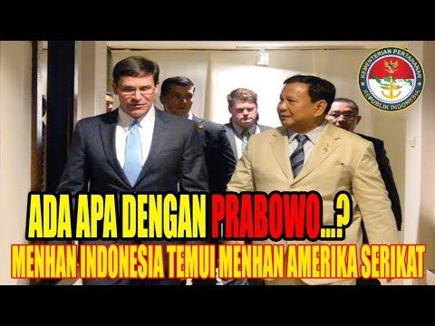 Menteri Pertahanan Prabowo Subianto Bertemu Dengan Menteri Pertahanan Amerika Serikat Mark Esper