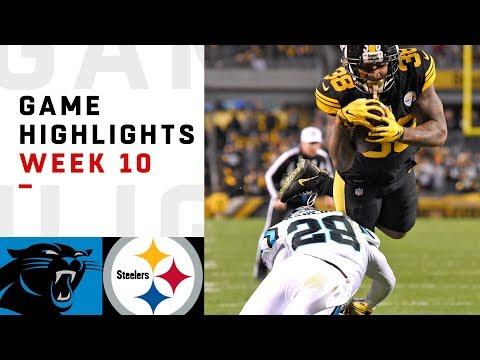 Panthers vs. Steelers Week 10 Highlights | NFL 2018