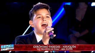 "Gerónimo Paredes de Neuquén interpretó ""Sin principio ni final"" de Abel Pintos"