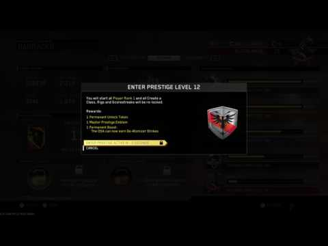 Infinite Warfare ENTERING MASTER PRESTIGE 12 U GET OSA DEATOMIZER