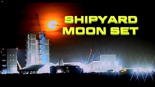 Rocket Shipyard Moon And Mars Set Time Lapse