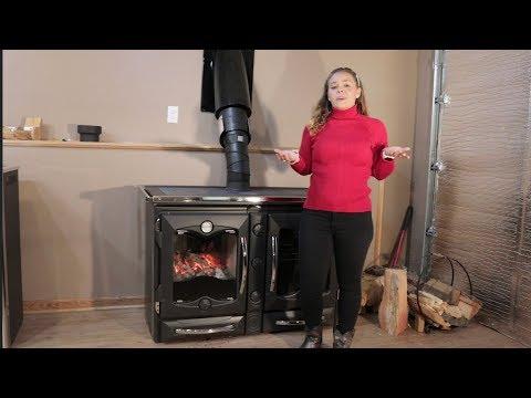 La Nordica America Cook Stove - Damper Controls