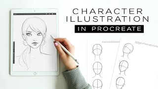 Character Illustration: Drawing A Female Character In Procreate