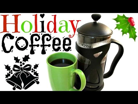 Holiday Coffee Recipe - How to use a French Press - PoorMansGourmet