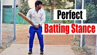 Perfect batting stance in cricket | Cricket Batting Tips | Nothing But Cricket