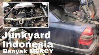 Junkyard Indonesia Parung Bogor - Banyak MERCEDES BENZ