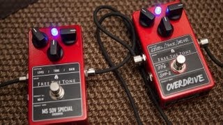 Free The Tone SOV-2 and MS SOV Special A/B overdrive pedal comparison demo