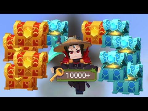 OPENING 1000 CHEST WITH 10000 KEYS IN BEDWARS!!!(BlockmanGo)