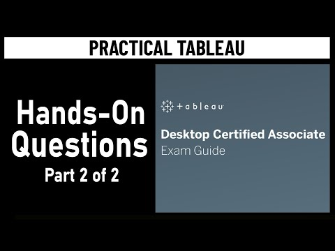 Tableau Certification - Desktop Certified Associate Exam ... - YouTube