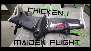 Chicken I Maiden. My First ever FPV wing flight!