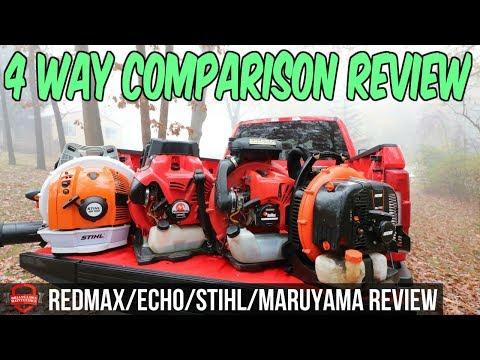 4 Way Lawn Care Blower Comparison – Redmax 8500 vs Stihl BR 700 vs ECHO 770T vs Maruyama BL9000