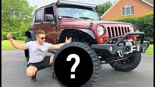 FINALLY... MY JEEP GETS HUGE WHEELS AND TIRES!!! (BIGGEST I