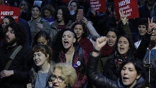 Акции протеста в Турции против результатов референдума