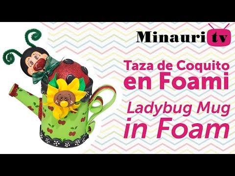 Fofucha Ladybug  Mug - Foamy 3D Mariquita - Minauri