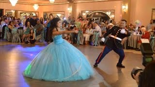Military Dad and Daughter Do Amazing Dance During Quinceanera