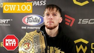 JACK SHORE POST FIGHT CAGE WARRIORS 100 INTERVIEW