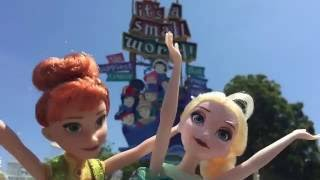 Elsa and Anna go to Disneyland and ride It's a small world! Disney 60th MAMA NEEDS A BREAK!