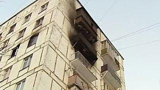Спасение мальчика, который спрыгнул с горящего балкона на седьмом этаже