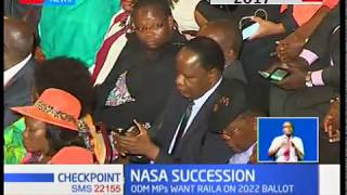 There is no qualified successor for Raila Odinga! That's the new claim by a section on NASA MPs