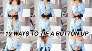 10 Ways To Tie & Tuck a Shirt! | 10 Different Ways To Wear a Shirt!