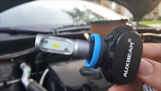 Auxbeam S1 H11 LED Headlight Review Installation Demo And Comparison