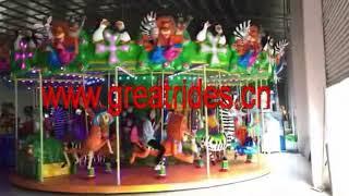 Amusement attraction madagascar carousel horses merry go round